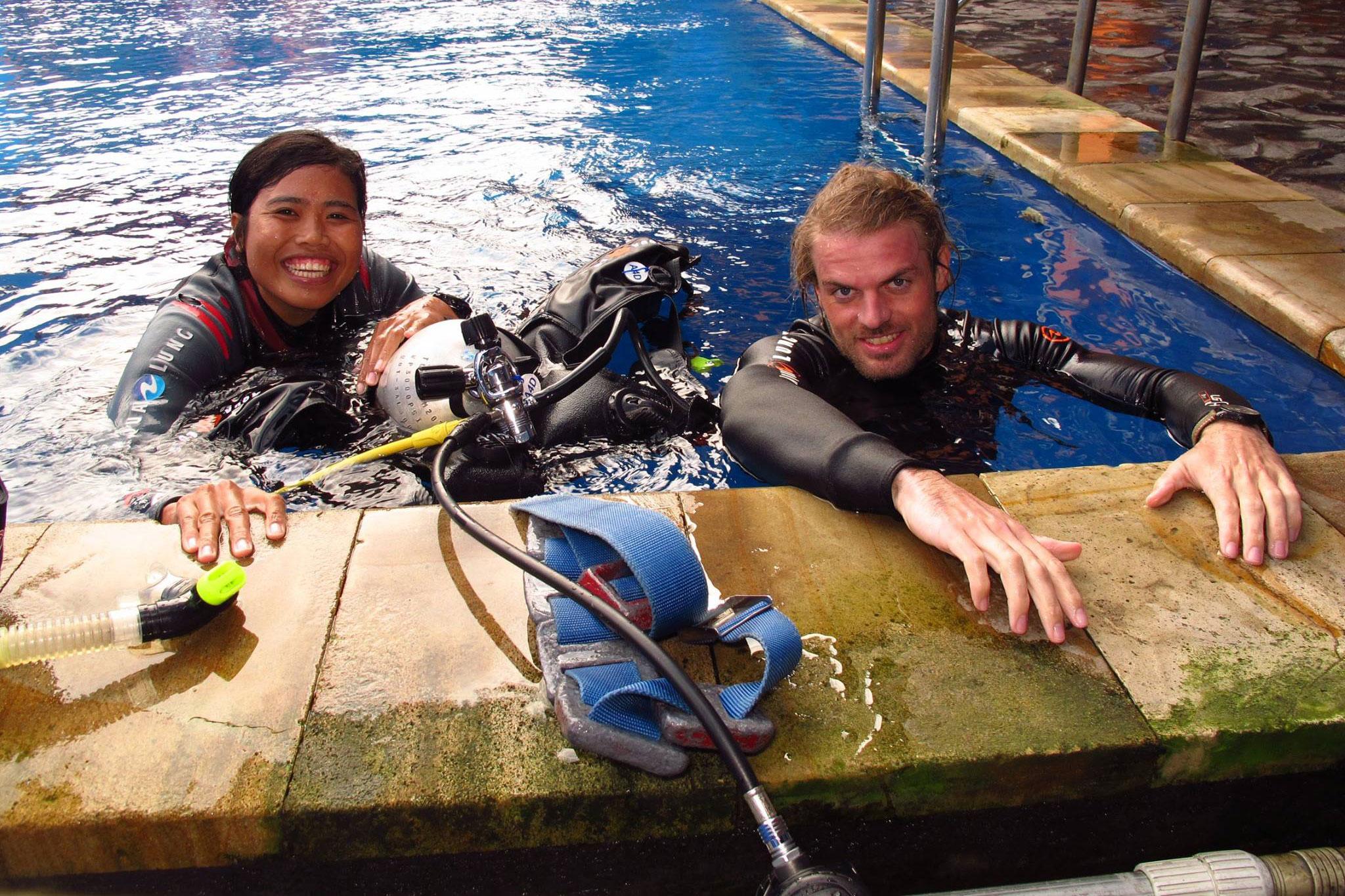 Scuba Diver Pool Training
